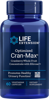 cran-max cranberry concentrate ellirose healthy urinary supplement