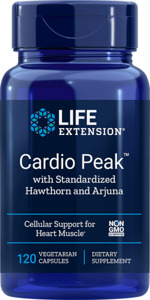 cardio peak hawthorn arjuna cellular heart muscle supplement