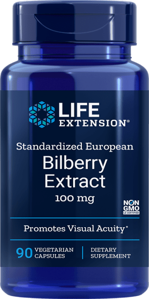 bilberry extract visual acuity vegetarian supplements