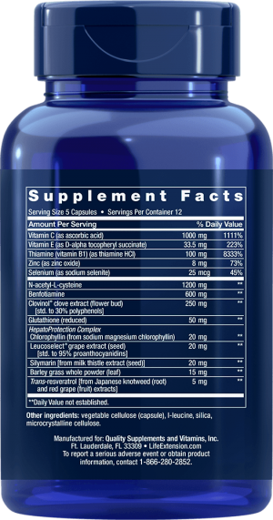anti-alcohol hepatoprotection supplements ingredients