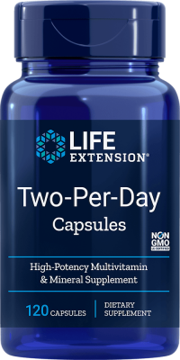 two per day multivitamin mineral supplements