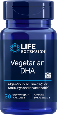 vegetarian dha algae-sourced omega-3 brain eye heart health supplement