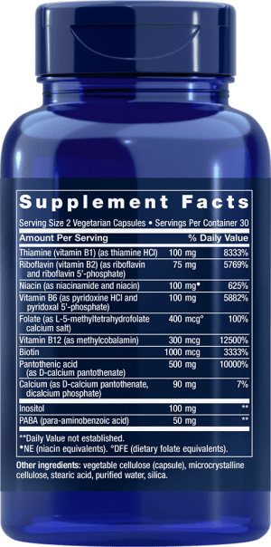 complete b-complex enzymatically active b-vitamins supplements ingredients