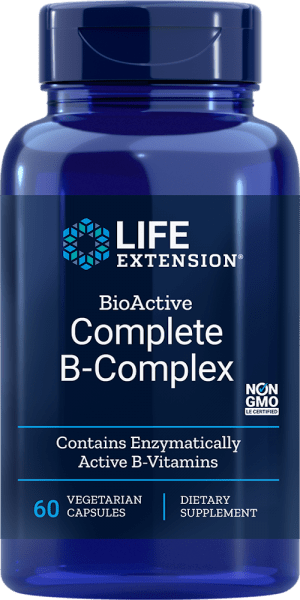 complete b-complex enzymatically active b-vitamins supplements
